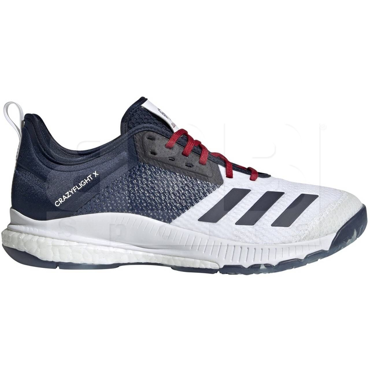Adidas Crazyflight X 3 USA Volleyball Women's Shoes Cloud White/Collegiate Navy/ Power Red