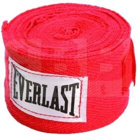 """4455SC Everlast Boxing Hand Wraps Red 120"""""""