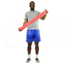 """105242 CanDo Low Powder Resistive Exercise Band Red Light 48"""""""