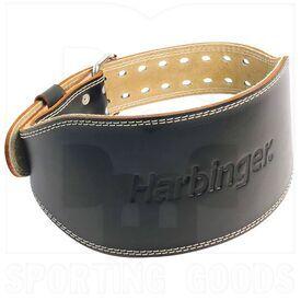 """28540 Harbinger Padded Leather Belt 6"""" Black"""