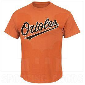 1922-BAO-DO-M Majestic Adult MLB Crewneck Baltimore Orioles Jersey Orange Medium