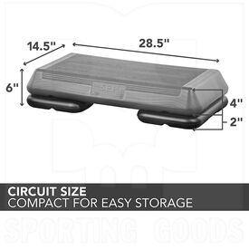 "F1065 The Step Aerobic Platform Circuit Adjustable 4"" to 6"""