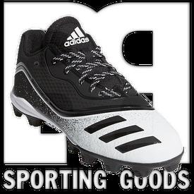 G28293-13K Adidas Icon V Mid Kids Cleats Black w/ White