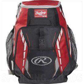 R400-SC Rawlings Youth Player Backpack Baseball Team Scarlet