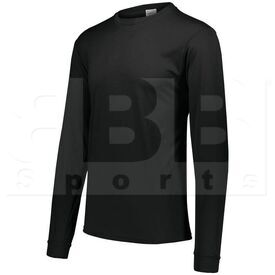 788.080.2XL Augusta Adult Wicking Microfiber Long Sleeve Shirt Black