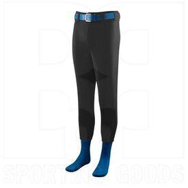 801.080.M Augusta Softball/Baseball Pant with Elastic Cuffs Black