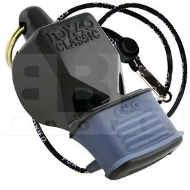 9601-0008 Fox 40 Whistle Classic CMG w/ Lanyard Black