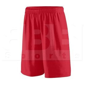 1421.040.L Augusta Training Short w/ Covered Elastic Waistband Drawcord Inside Red