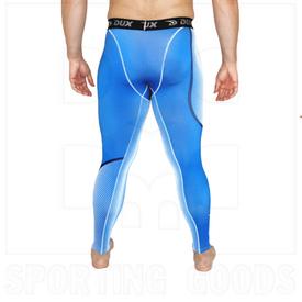 CP1223YL Dux Sports Dots Compression Pant Blue