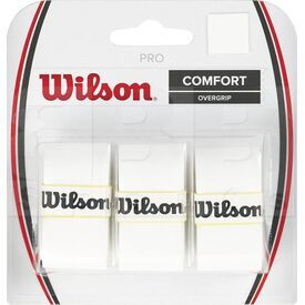 Z4014-WH Wilson Pro Tennis Racket Overgrip Set of 3 White