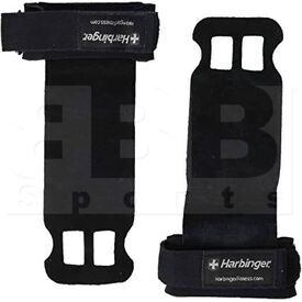 14113 Harbinger Leather Palm Grip for Weight Lifting Black