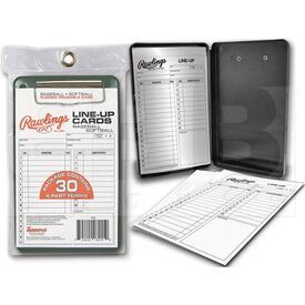 17LCR Rawlings Softball/Baseball Line-Up Cards 30 w/ Case