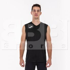 100436.100.L Joma Sleeveless Shirt Combi Black