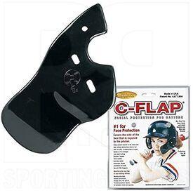 CFLAP-BKLH Markwort Batting Helmet C-Flap Facial Protection Jaw Guard for Left Hand Batter Black
