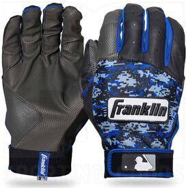 21059F1 Franklin Sports MLB Digitek Baseball Batting Gloves Royal/Grey/Black