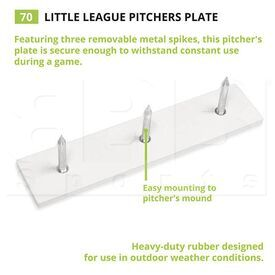 70 Champion Youth Pitcher Plate