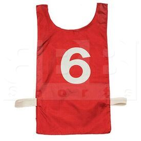 NP2-SC Champion Sports Red Numbered Heavyweight Nylon Pinnie