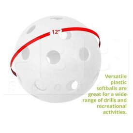 "PLSB Champion Sports Plastic Softball 12"" (Sold Individually)"