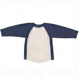 BS29-NV-YL Champro Camisa de Manga 3/4 para Niño Azul Marino/Blanca