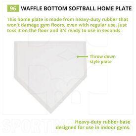 "96 Champion Waffle Bottom Home Plate 16""x17""x1"""