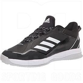 S23711-9 Adidas Icon 7 Turf Shoes Core Black/Cloud White/Silver Metallic