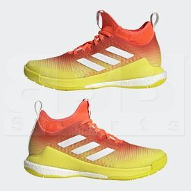 H04964-9 Adidas Crazyflight Mid Volleyball Shoes Red/Yellow