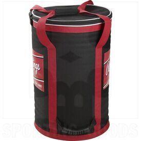 "RSSBB Rawlings Sot Sided Ball Bucket Bag Black/Red 21.25"" H x 13.5"" W"