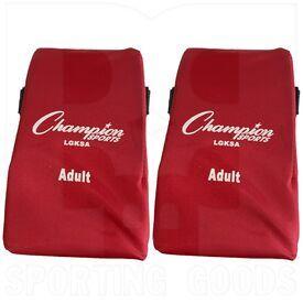 LGKSA-SC Champion Adult Catcher's Knee Support Scarlet