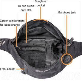 ZZ-BG-WB-SM-BK-BL Zol Original Sport and Travel Fashion Fanny Pack Men Women Waist Bag 3 Pockets