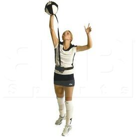 VBPAL Tandem Sport Volleyball Pal Adjustable Elastic Cord W/ Waist Strap Warm Up Training Aid for Solo Practice