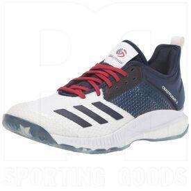 D97836-5.5 Adidas Crazyflight X 3 Calzado de Voleibol USA para Mujer Blanco/Navy/Rojo