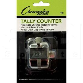 TC Champion Tally 4 Digit Display Pitch Counter Silver