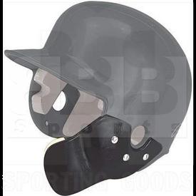CFLAP-BKRH Markwort Batting Helmet C-Flap Facial Protection Jaw Guard for Right Hand Batter Black