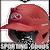 "RCFH-SC Rawlings Coolflo Molded Baseball Batting Helmet 6 ½"" – 7 ½"" Scarlet"