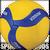V350W Mikasa V350W Volleyball 18 Panel Design Ball w/ Soft Stitched Cover Size 5