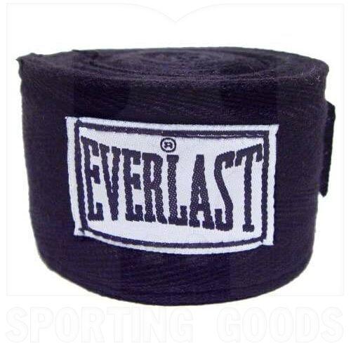 "4455BK Everlast Boxing Hand Wraps Black 120"""