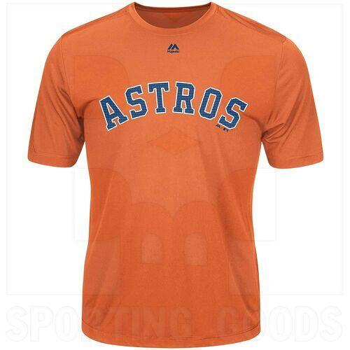 G223-3253-HUS-TLJ-S Majestic MLB Houston Astros Evolution Tee Shirt