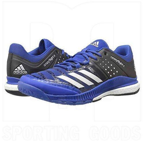 B01N9K6X9H Adidas Crazyflight X Shoes Royal/Silver/Black