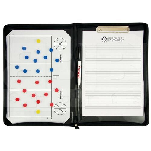 6905-0700 Fox 40 Volleyball Coaching Pro Folder Magnetic Board