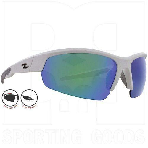 ZZ-EY-UV-TOUR-WH-GRN Zol Tour Sunglasses White w/ Green Lens