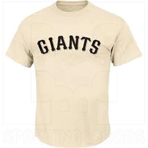 1922-SFG-SN-L Majestic Adult MLB Crewneck San Francisco Giants T-shirt Cream