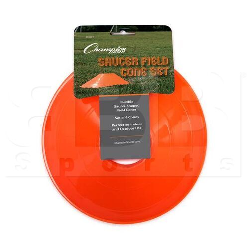 "SC4SET Champion Saucer Cone 7.5""x2"" Set of 4 Orange"