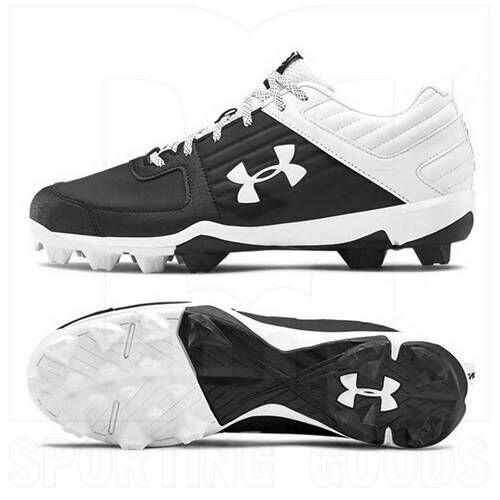 3022071-001-13 Under Armour Men's Leadoff Low Baseball Cleats Black/White