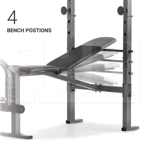 WEBE60610 Weider XR 6.1 Multi-Position Weight Bench with Leg Developer and Exercise Chart Black