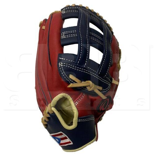 """ST1252-FPRNS Tamanaco ST-Series Puerto Rico Edition Natural Leather Outfield Glove 12.5"""" Navy/Scarlet RHT"""