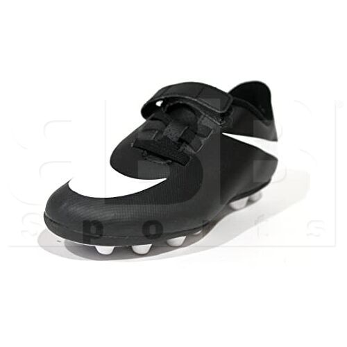 749905-011-10C Nike Bravata Kids Soccer Cleat Black w/ White