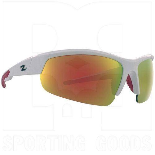 ZZ-EY-UV-TOUR-WH-RD Zol Tour Sunglasses White w/ Red Lens