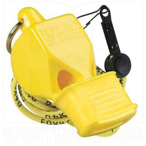 9603-0208 Fox 40 Whistle Classic CMG w/ Lanyard Yellow