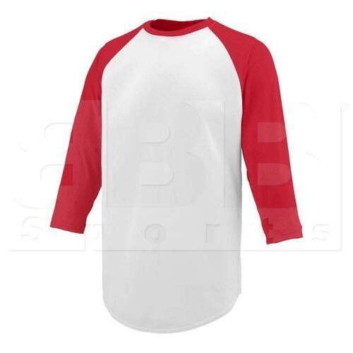 1505.225.S Augusta Nova Wicking Jersey With Pinhole Mesh 3/4 Sleeves White/Red