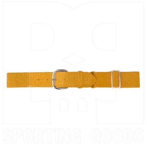 6001.025 Augusta Adult Elastic Baseball Belt w/ Vinyl Tabs & Slider Gold